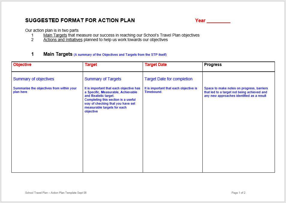 action plan template 14