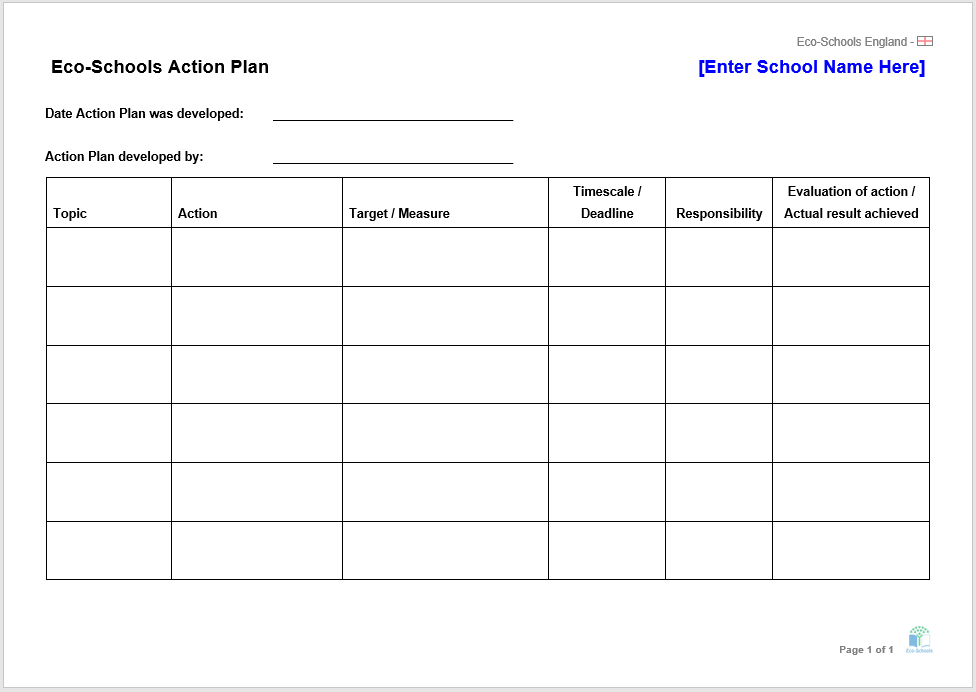 action plan template 15