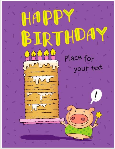 Birthday Card Template 03