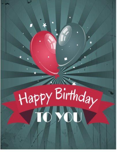Birthday Card Template 06