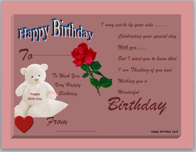 Birthday Card Template 13