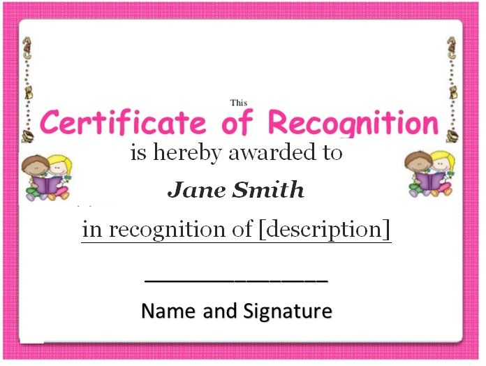 15 Free Certificate of Recognition Templates