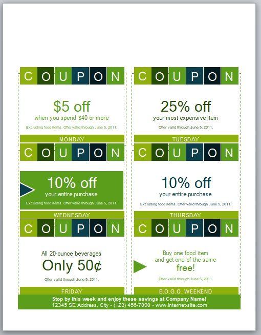 Discount Voucher Template 04