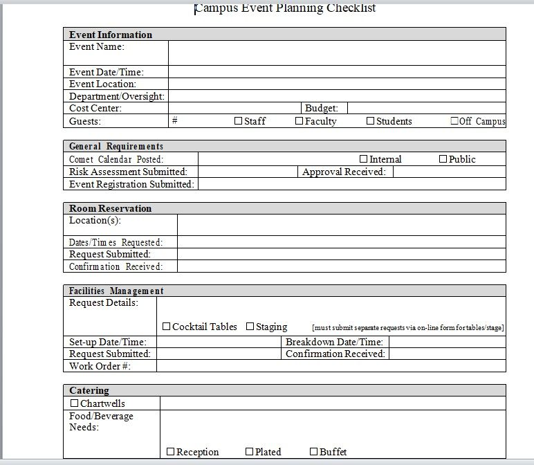 15 Free Event Planner Templates