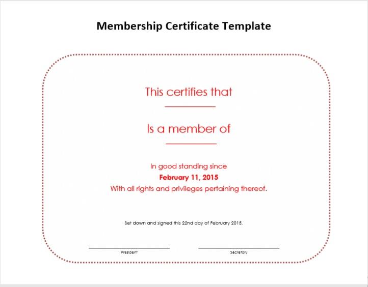Membership Certificate Template 04