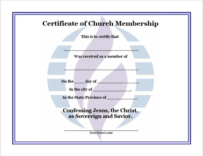 Membership Certificate Template 07
