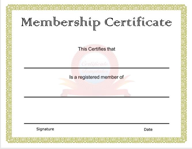 Membership Certificate Template 13