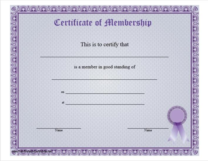 Membership Certificate Template 14