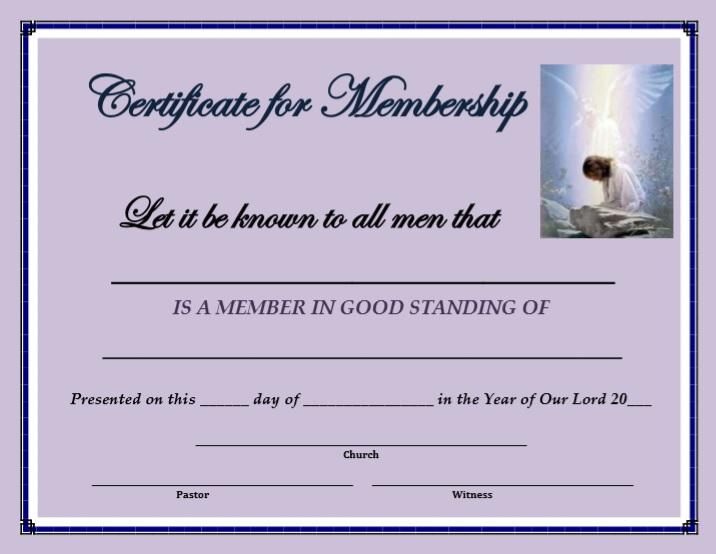 Membership Certificate Template 15