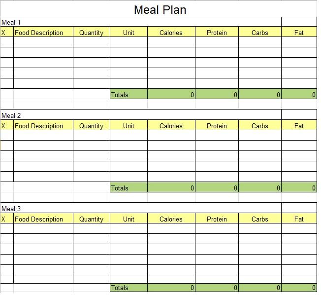 Menu Planner Template 08