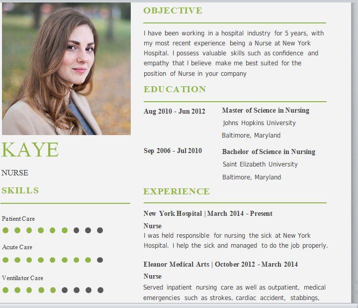 07 Free Nursing Resume Templates