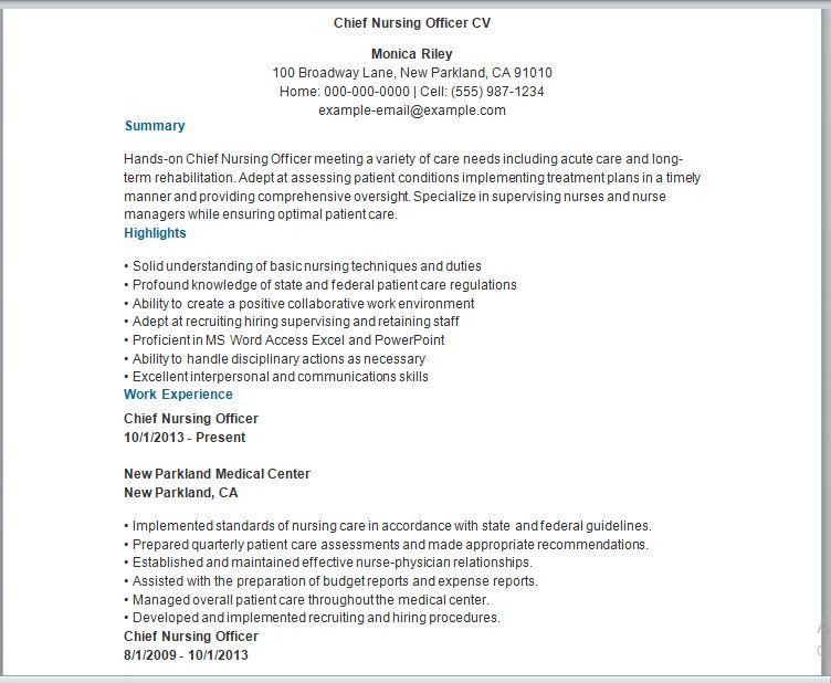 Nursing Resume Template 02
