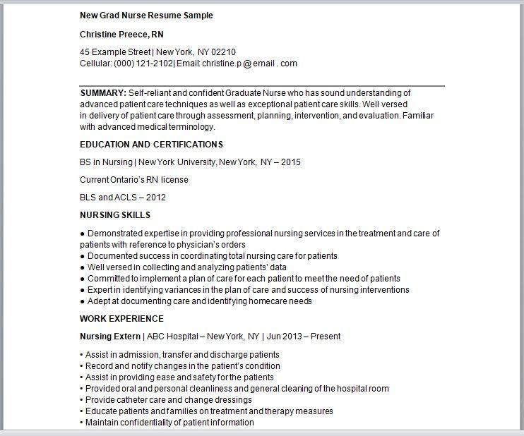 Nursing Resume Template 03