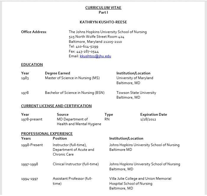 Nursing Resume Template 05