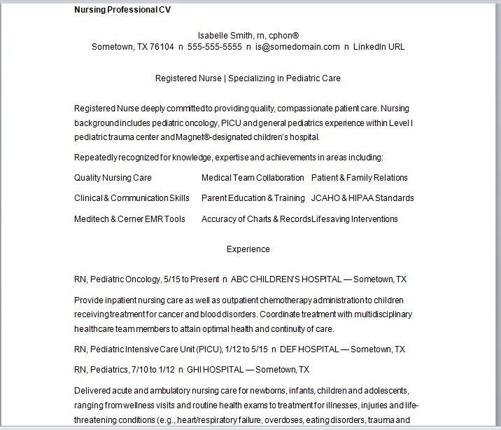 Nursing Resume Template 06