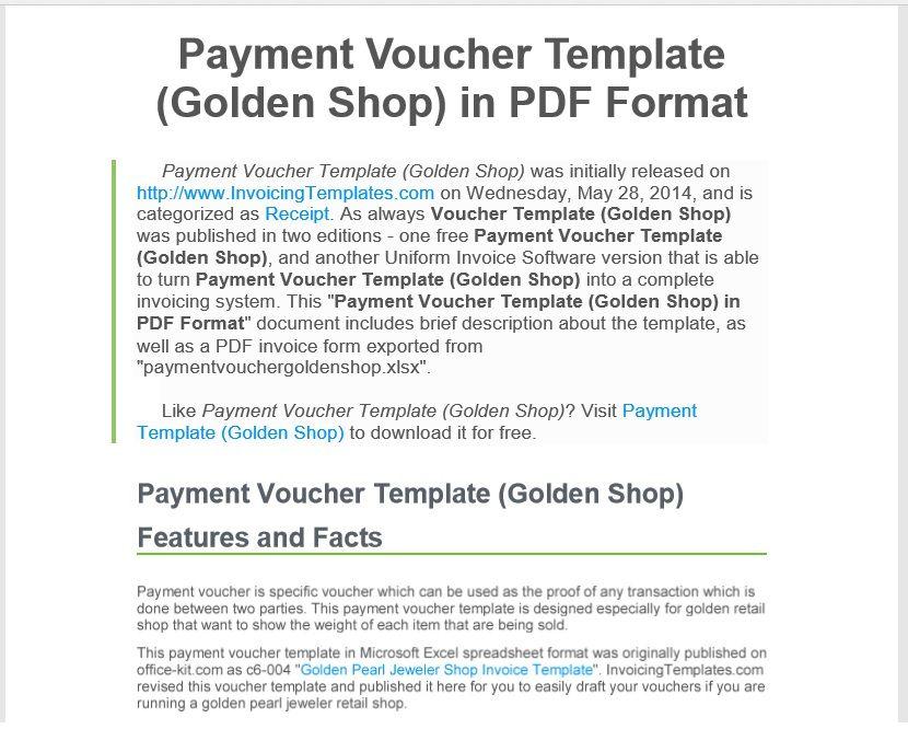 Payment Voucher Template 02