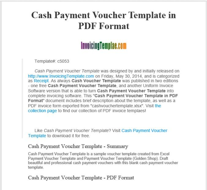 Payment Voucher Template 03