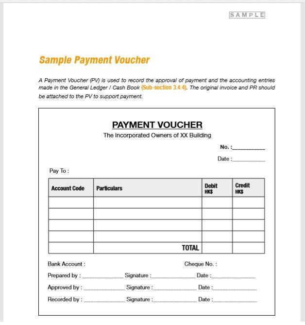 Payment Voucher Template 04