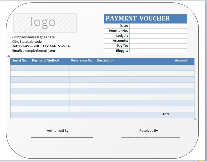 Payment Voucher Template 05