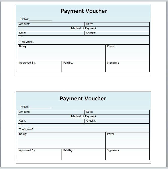 Payment Voucher Template 06
