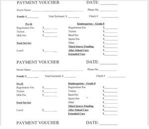 Payment Voucher Template 08