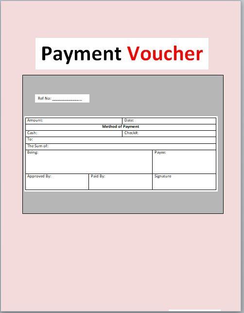 Payment Voucher Template 15
