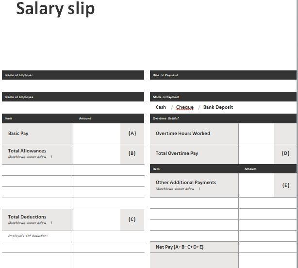 Salary Slip Template 09