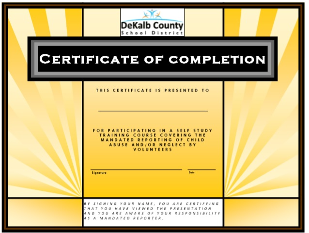 Training Certificate Template 03