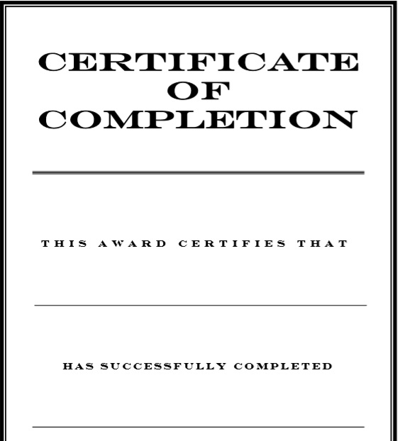 Training Certificate Template 05