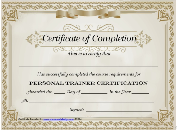 Training Certificate Template 08