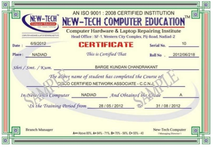 Training Certificate Template 13