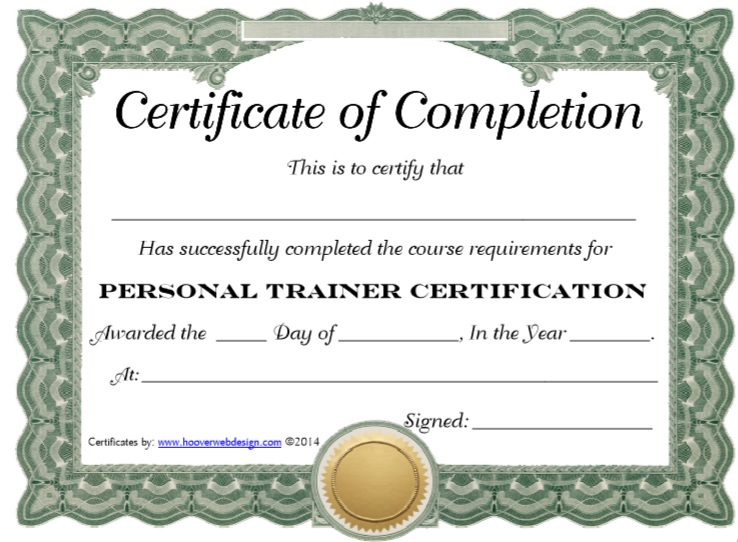 Training Certificate Template 15