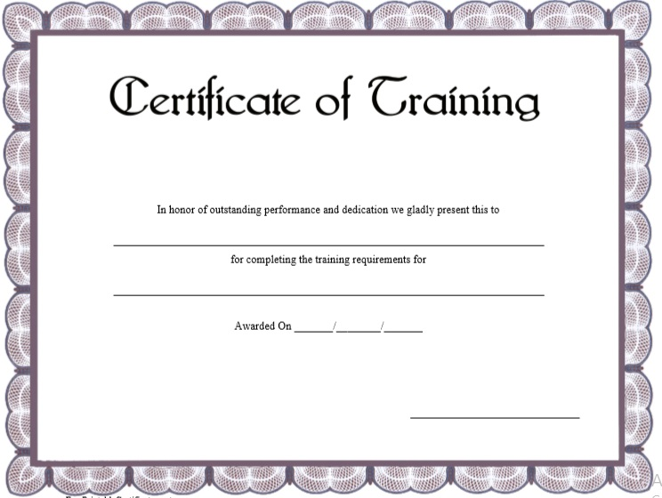 Training Certificate Template 16