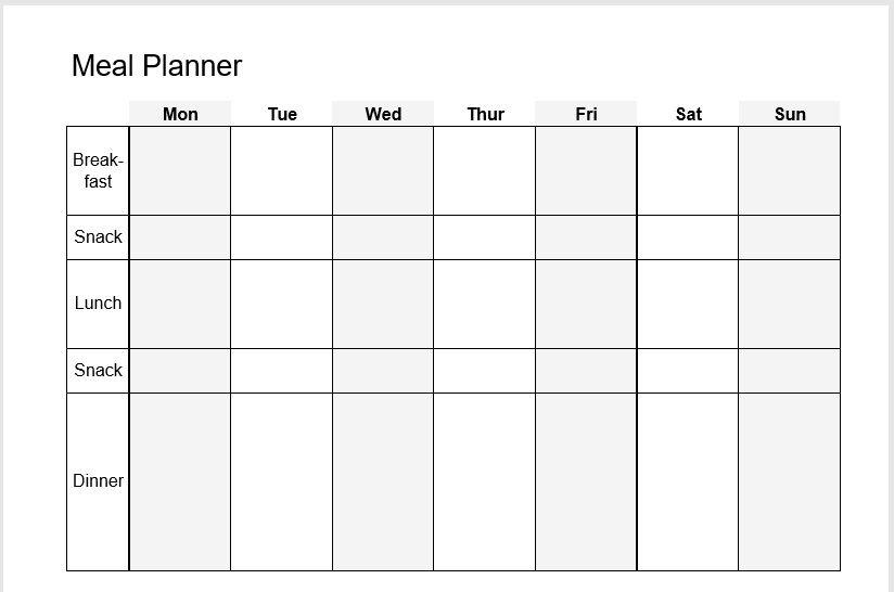 Weekly Planner Template 03