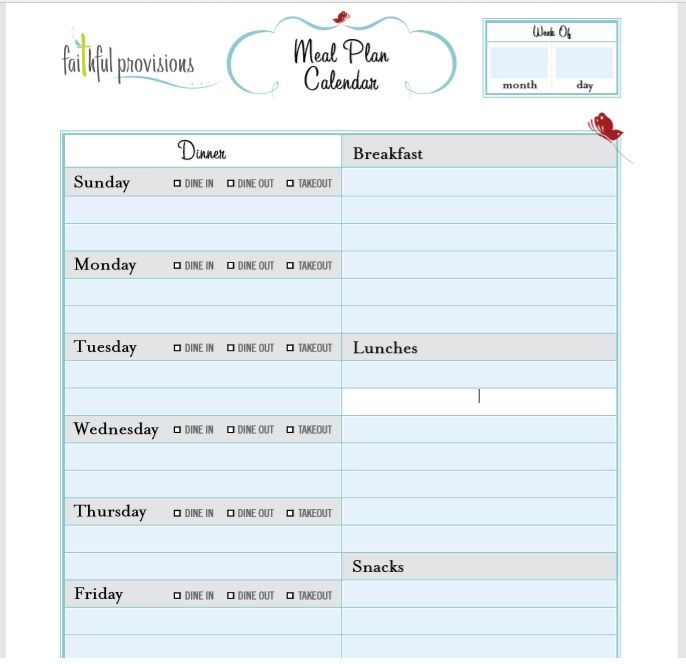 15 Free Weekly Planner Templates