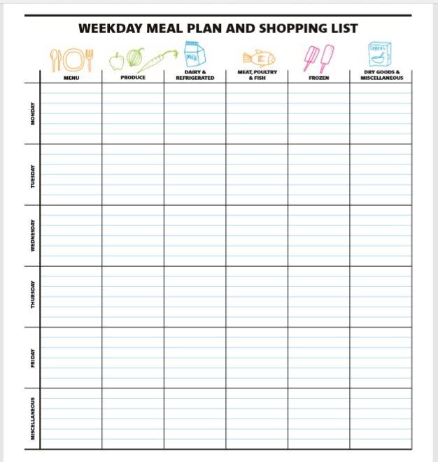 Weekly Planner Template 09