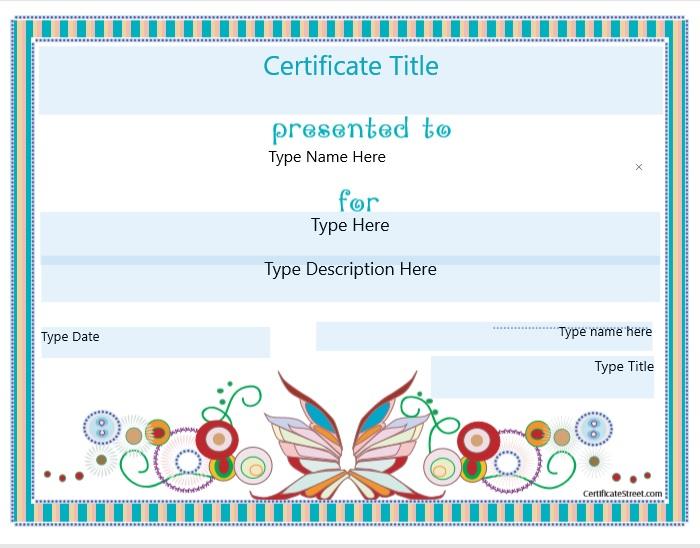 Blank Certificate Template 02