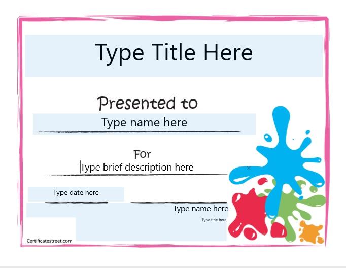 Blank Certificate Template 04