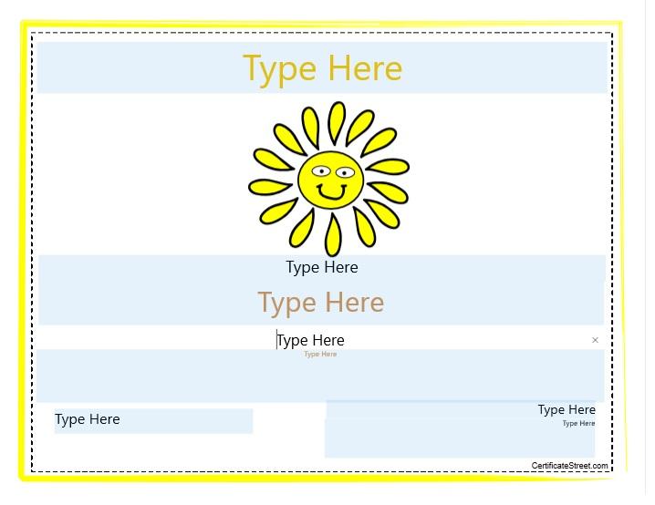 Blank Certificate Template 05