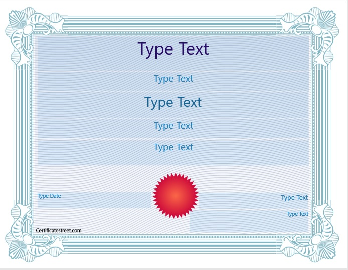 Blank Certificate Template 07