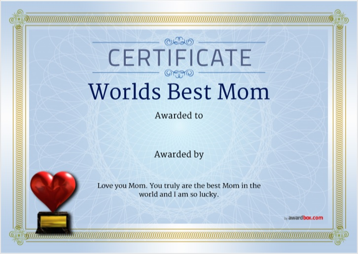 18 Free Certificate of Best Mother Templates