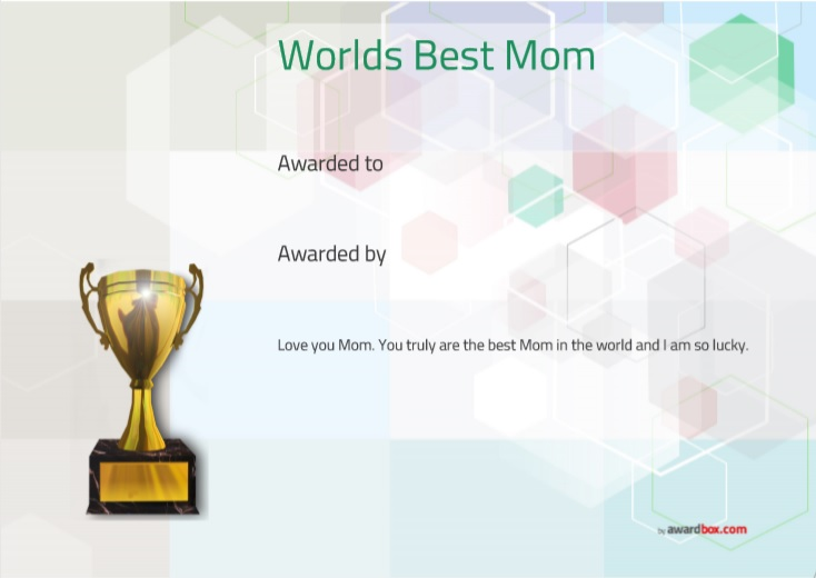 Certificate of Best Mother Template 06