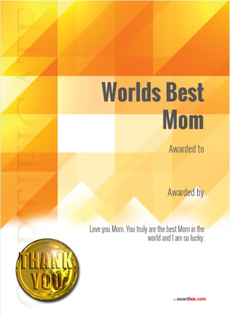 Certificate of Best Mother Template 11