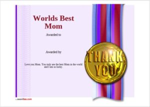 Certificate of Best Mother Template 14