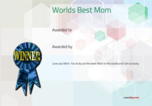 Certificate of Best Mother Template 15
