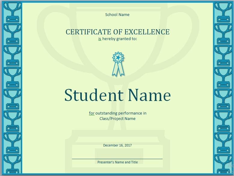 15 Free Certificate of Excellence Templates