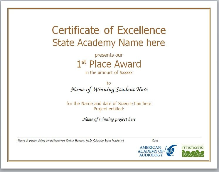 Certificate of Excellence Template 04