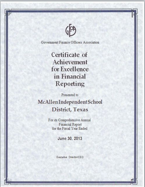 Certificate of Excellence Template 06