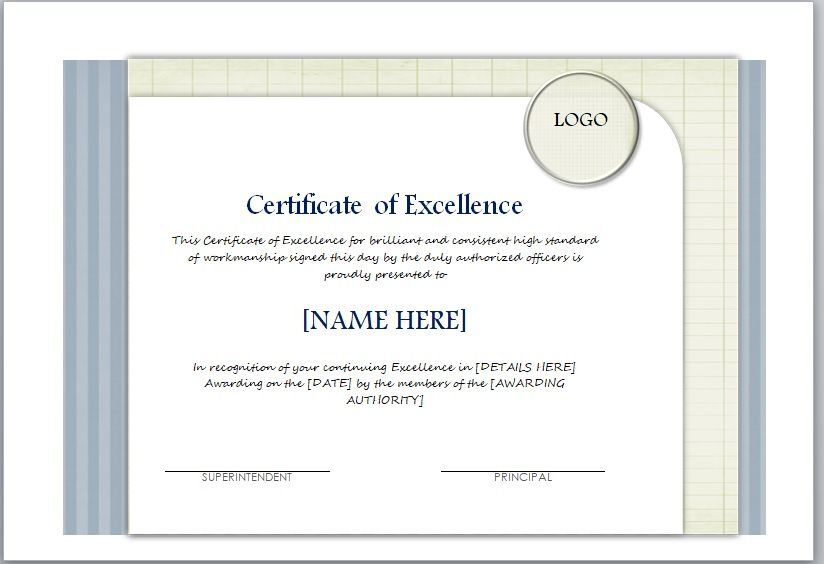 Certificate of Excellence Template 08