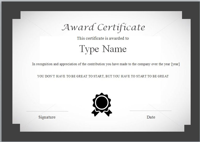 Certificate of Excellence Template 10